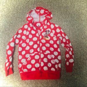 Cute girls R&W Minnie Mouse polka dot sweatshirt